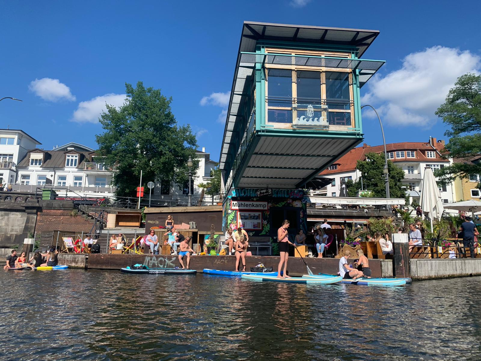 Regional reisen, Urlaub in Hamburg, Alstertal SUPs