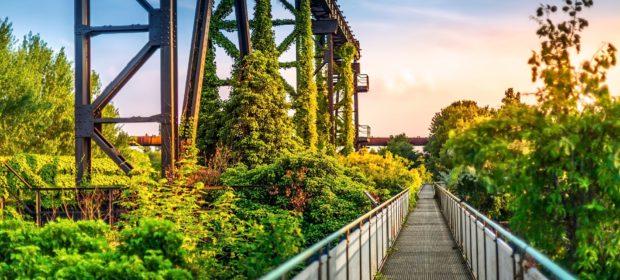 Urlaub in Nordrhein-Westfalen, Duisburg Natur und Brücke